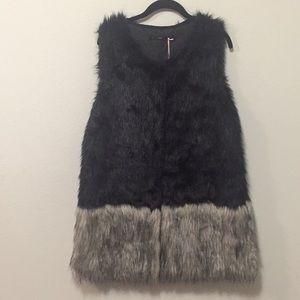 Warm and Fuzzy Faux Fur Vest- Size L